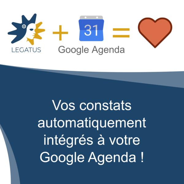 📆 Google Agenda + 🏺 Legatus = ❤️
